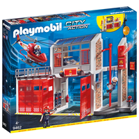 Набор с элементами конструктора Playmobil City Action 9462 Пожарная служба: Пожарная станция