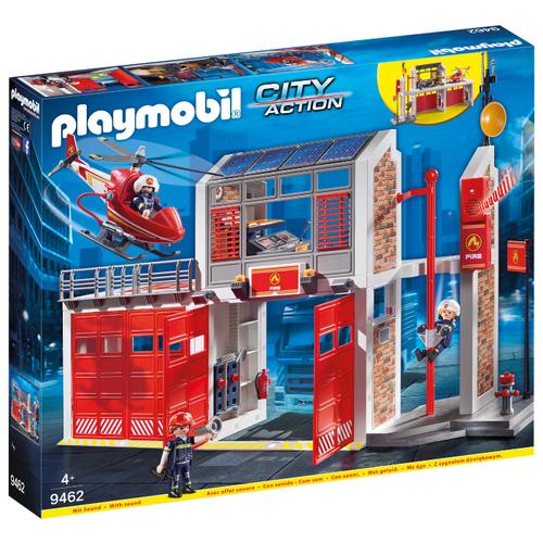 Набор с элементами конструктора Playmobil City Action 9462 Пожарная служба: Пожарная станция набор с элементами конструктора playmobil city life 9078 шопинг торговый центр