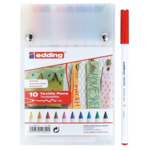Edding Маркеры 1 мм, 10 шт. (4600) разноцветные
