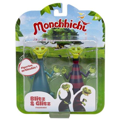 Фигурки Silverlit Monchhichi Блиц и Глиц 81502 игровой набор silverlit monchhichi вилли с кабриолетом 81513
