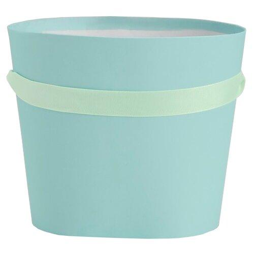 Коробка подарочная Yiwu Youda Import and Export для цветов 18 х 16 х 14 см бирюзовый