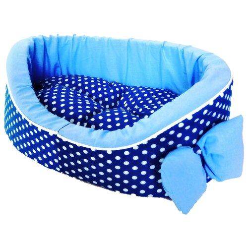 Лежак для собак и кошек LOORI Дуэт 49х36х17 см синий