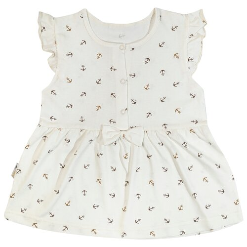 Платье Клякса размер 24-80, экрю
