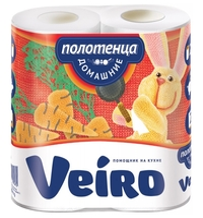 Полотенца бумажные Veiro Домашние белые двухслойные 2 шт.