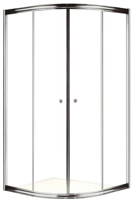 Giubileo-R-2-90-Scorrevole-PP-St Душевой уголок Cezares 90x90x195 см без поддона, стекло матовое
