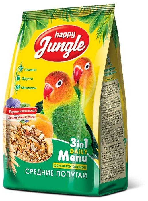 Happy Jungle Корм для средних попугаев Основной рацион 500 г