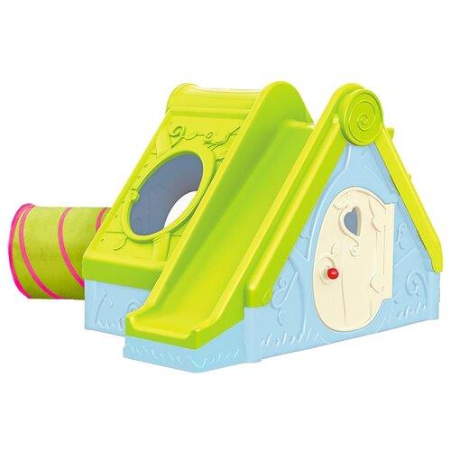 Купить Домик KETER Funtivity Playhouse зеленый/голубой, Игровые и спортивные комплексы и горки