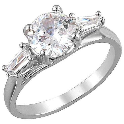 Эстет Кольцо с фианитами из серебра С33К152734, размер 16.5 фото