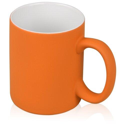 Кружка с покрытием soft-touch «Barrel of a Gum», оранжевый