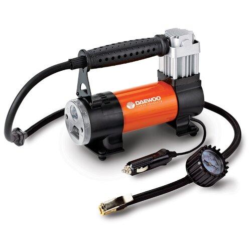 Автомобильный компрессор Daewoo Power Products DW75L черный/оранжевый