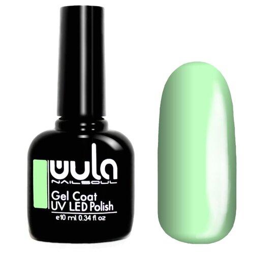Гель-лак для ногтей WULA Gel Coat, 10 мл, оттенок 410 пастельно-зеленый гель лак для ногтей wula gel coat 10 мл оттенок 367 серо зеленый