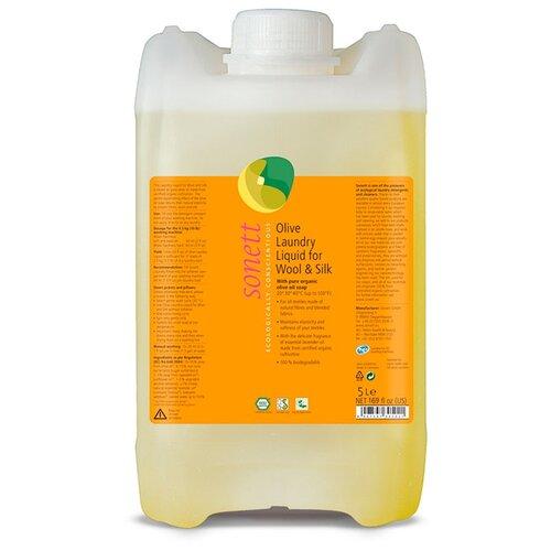 Гель Sonett Оливковый концентрат для шерсти и шёлка, 5 л, бутылка
