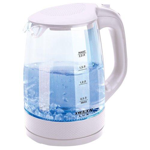 цена на Чайник DELTA LUX DL-1058, белый