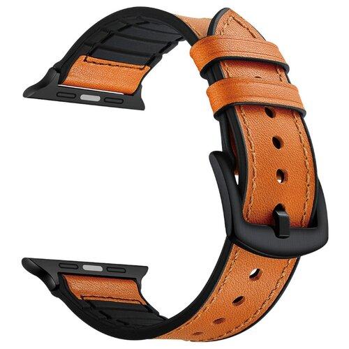 Купить Lyambda Комбинированный ремешок Antares для Apple Watch 38/40 mm orange brown
