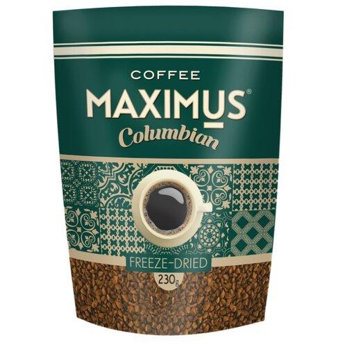 maximus nero кофе растворимый в стеклянной кружке 70 г Кофе растворимый Maximus Columbian сублимированный, 230 г