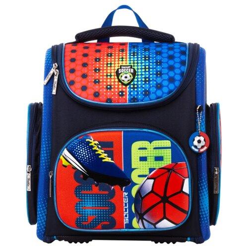 Hatber Ранец Compact Plus Футбол (NRk_22040), черный/синий/красный