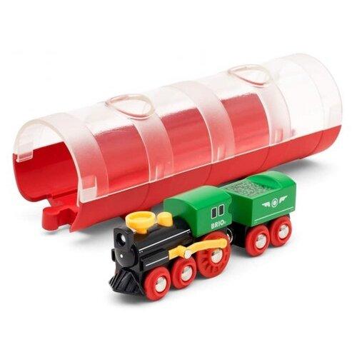 Купить Brio Поездной состав и тоннель, 33892, Наборы, локомотивы, вагоны