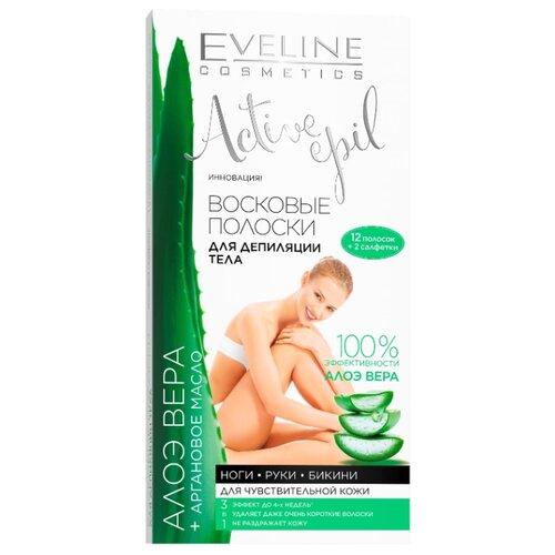 Eveline Cosmetics Восковые полоски для депиляции тела c алоэ 12 шт.Восковая эпиляция<br>