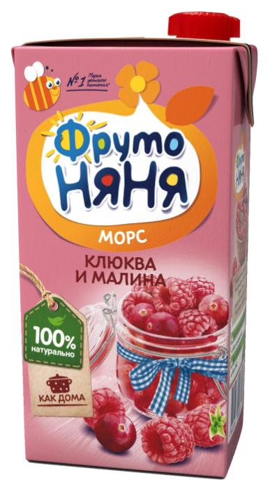 Морс ФрутоНяня из клюквы и малины, c 3 лет