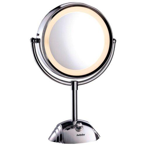 Зеркало косметическое настольное BaByliss 8438E с подсветкой хром зеркало косметическое swensa 20 см настольное хром l01 8