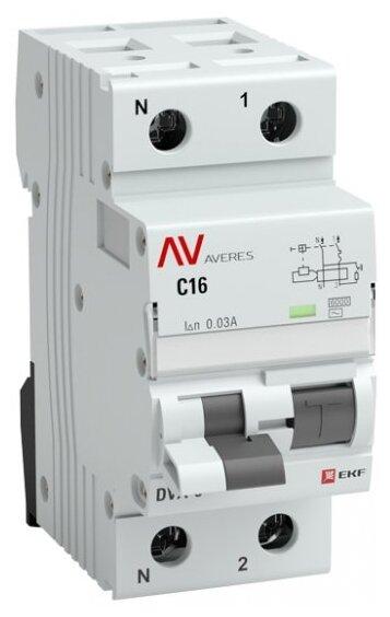 Дифференциальный автомат EKF DVA-6 2П 100 мА C