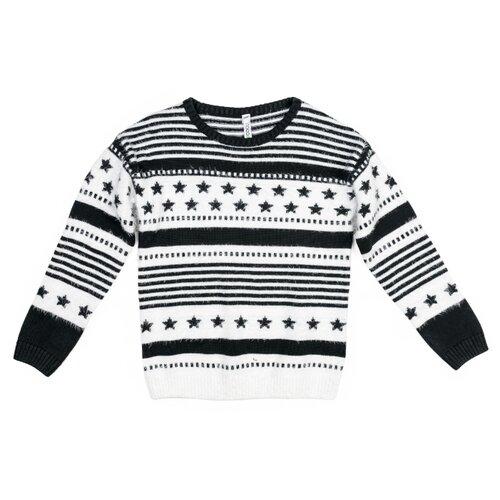 Джемпер playToday размер 164, черный/белый