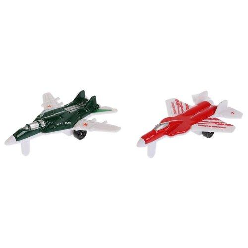 Купить Набор техники ТЕХНОПАРК Самолеты (1454627-R) 9 см, Машинки и техника
