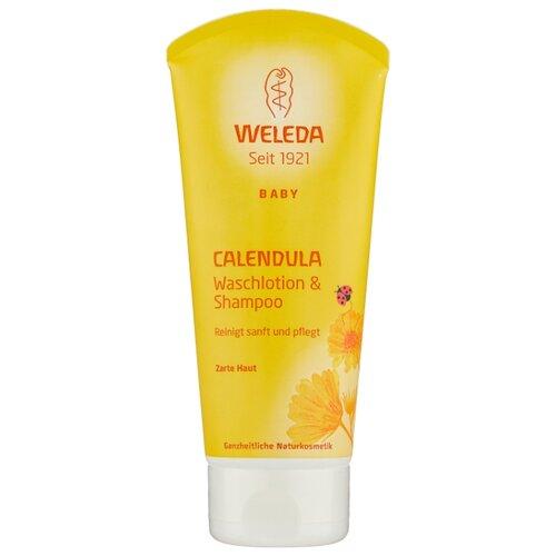 Weleda Детский шампунь-гель с календулой для волос и тела 200 мл weleda детский бальзам защитный от ветра и холода с календулой 30 мл