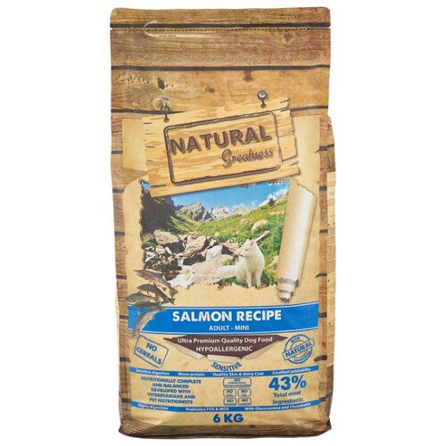 Корм для собак NATURAL Greatness (6 кг) Salmon Recipe Mini greatness