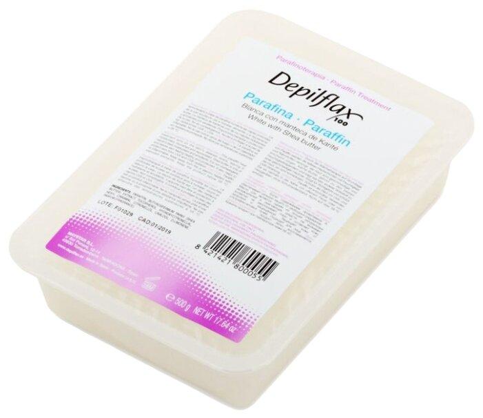 Парафин Depilflax Белый с маслом карите