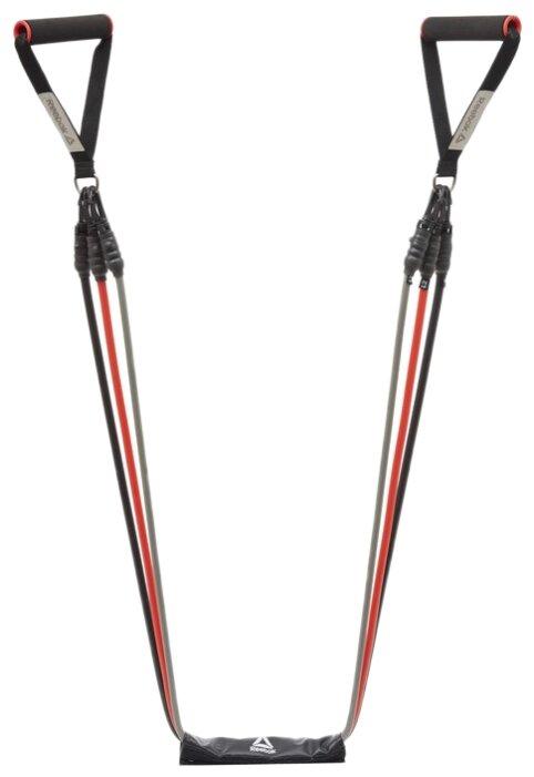 Тренировочное снаряжение Набор трубчатых эспандеров Reebok черно-серый