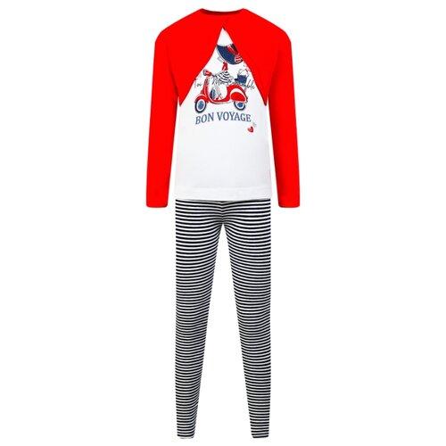 Комплект одежды Mayoral размер 110, красный/белый/полоска комплект одежды mayoral размер 110 белый зеленый
