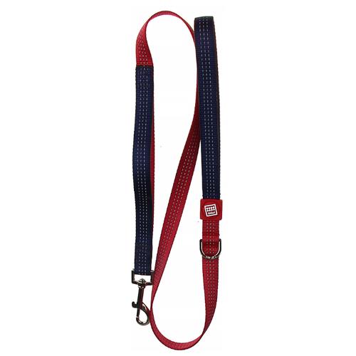 Поводок для собак GiGwi Classic Line L синий/красный 1.2 м 20 мм поводок для собак gigwi classic line s фиолетовый 1 2 м 10 мм