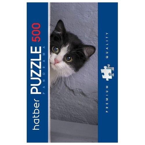 Пазл Hatber Любопытный котик (500ПЗ2_18315), 500 дет., Пазлы  - купить со скидкой