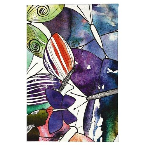 Обложка для паспорта Mitya Veselkov Акварельные бабочки OZAM219, фиолетовый/зеленый/белый