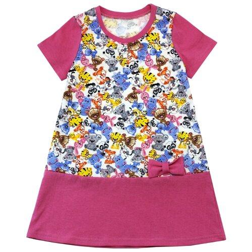 Платье TREND размер 110-60(30), 5004 белый/игрушки/розовыйПлатья и сарафаны<br>