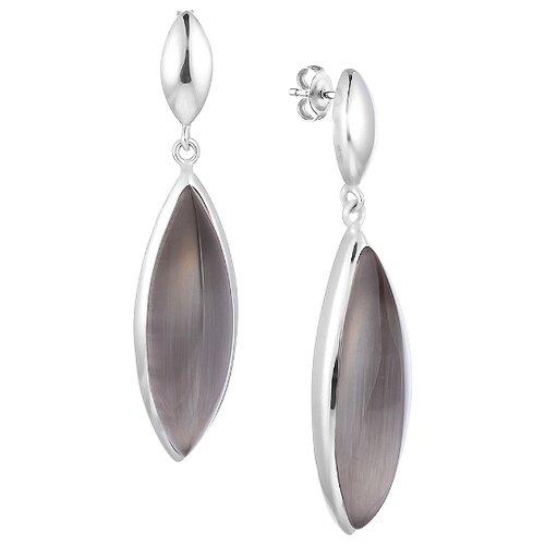 JV Серьги со стеклом из серебра SE0413-US-001-WG jv кольцо с ювелирным стеклом из серебра b3198 us 011 wg размер 17 5