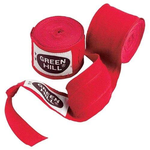 Кистевые бинты Green hill BP-6235a 2,5 м красный