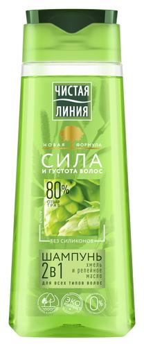 Чистая линия шампунь-бальзам 2в1 Хмель и репейное масло — купить по выгодной цене на Яндекс.Маркете