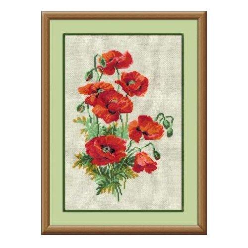 Купить Риолис Набор для вышивания крестом Полевые маки 21 х 30 (808), Наборы для вышивания