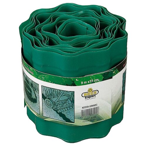 Бордюрная лента RACO 42359, зеленый, 9 х 0.15 м