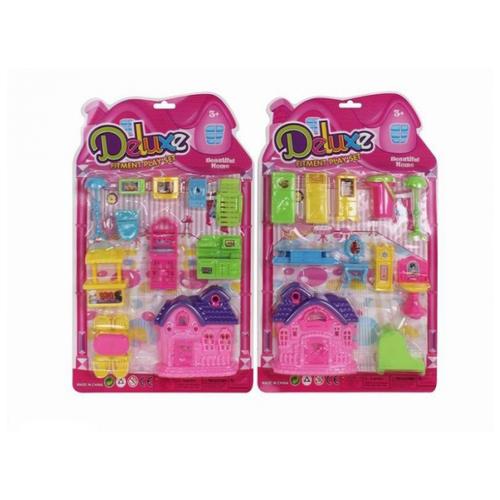 Купить Zhorya Дом для кукол Deluxe ZY454943, розовый/фиолетовый, Кукольные домики