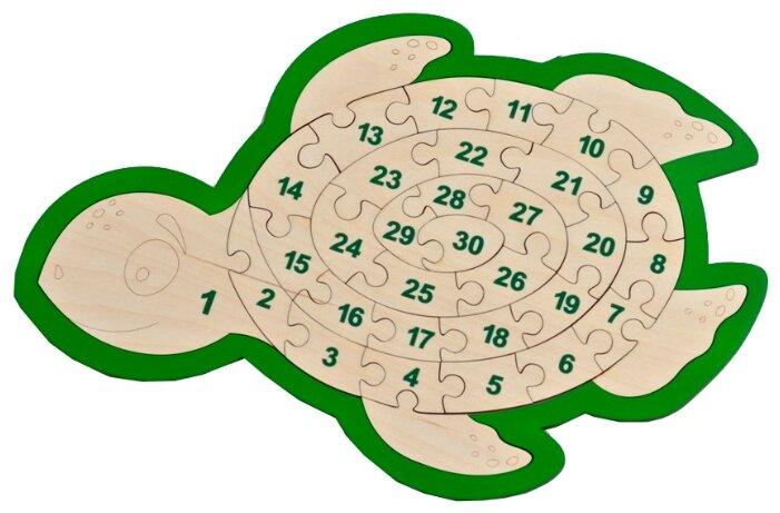 Рамка-вкладыш Raduga Kids Черепаха - Цифры (RK1015), 30 дет.