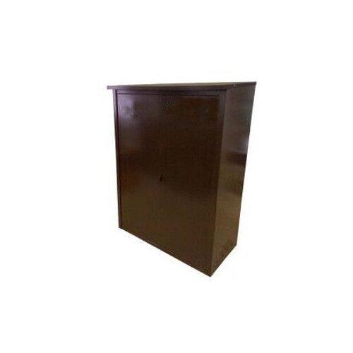 Шкаф металлический для двух газовых баллонов 50 л Коричневый