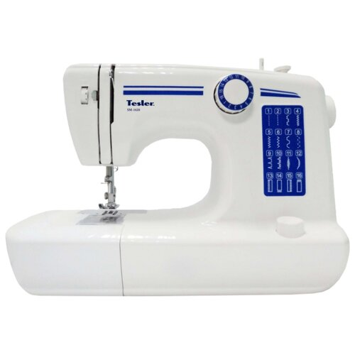 Швейная машина Tesler SM-1620, бело-синий  - купить со скидкой