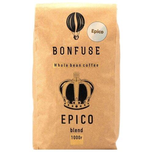 Кофе в зернах Bonfuse Epico, арабика, 1000 г кофе в зернах bonfuse asia арабика 250 г
