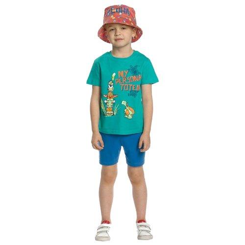 цена на Комплект одежды Pelican размер 2, зеленый/синий