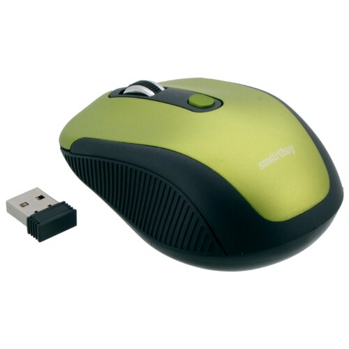 Мышь SmartBuy SBM-357AG-FG Green-Black USB smartbuy one 345ag black мышь беспроводная