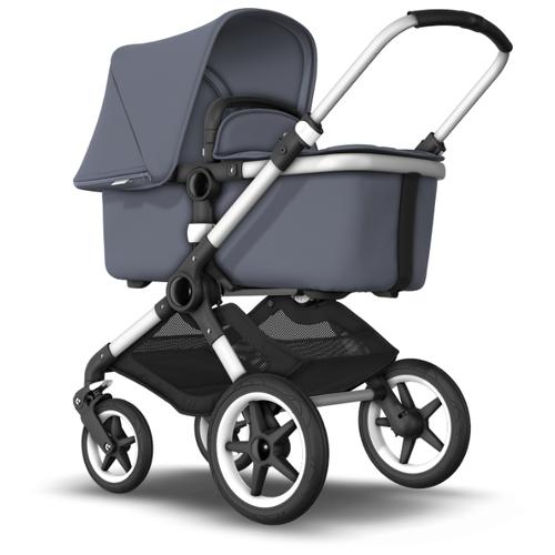 Купить Универсальная коляска Bugaboo Fox (2 в 1) Alu/Steel Blue/Steel Blue, цвет шасси: серебристый, Коляски