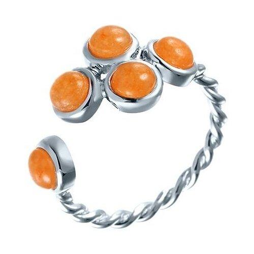 JV Кольцо с жадеитами из серебра TR21R-KO-JD-001-WG, размер 18 jd коллекция разноцветное кольцо дефолт